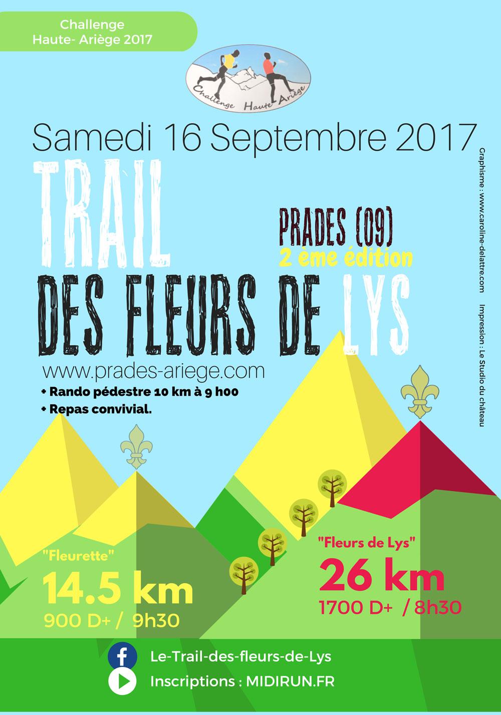 Trail fleurs